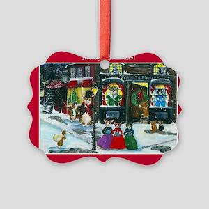 A Christmas Carol Corgi Cards Picture Ornament