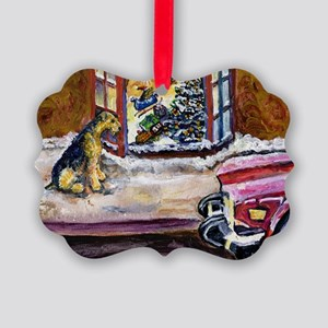 Airedale Terrier Christmas Picture Ornament