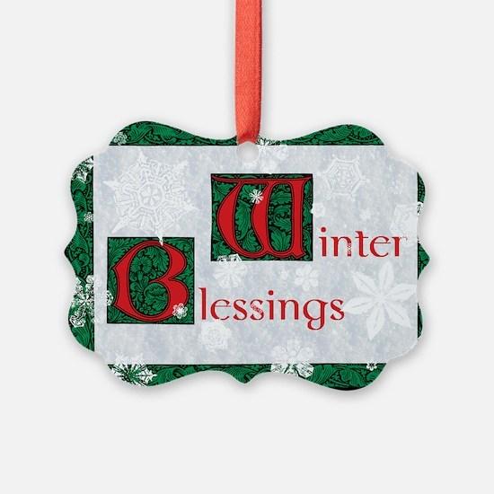 Winter Blessings Ornament