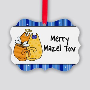 Merry Mazel Tov kitties Picture Ornament
