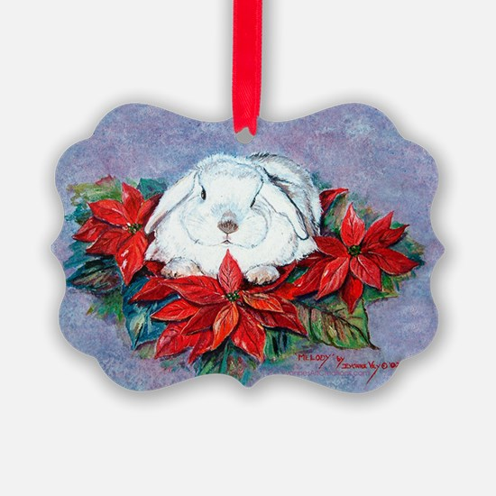 White Rabbit Christmas Picture Ornament20)