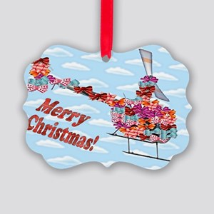 Helicopter Christmas Gift Picture Ornament0