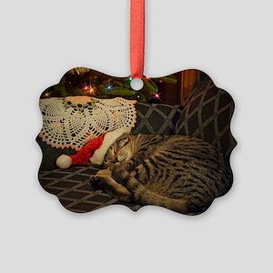 Santa Daisy Picture Ornament