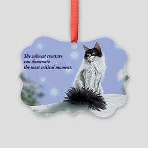 Excellent calm skogkatt Picture Ornament