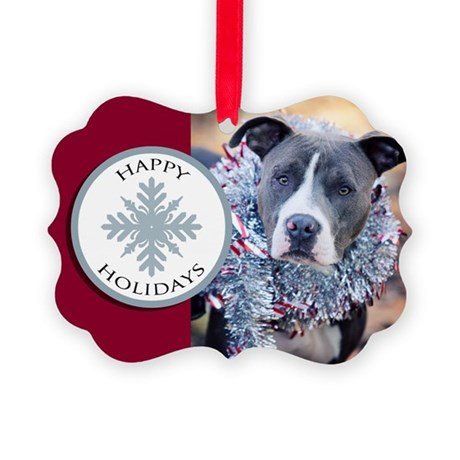 StubbyDog Happy Holidays Picture Ornament (20 pack