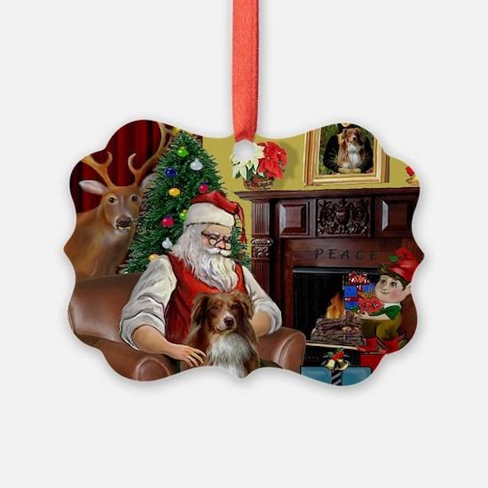 Santa's Aussie (RW4) Ornament
