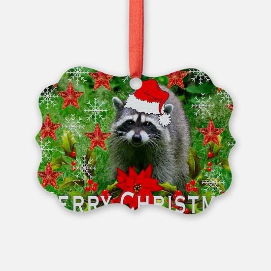 Christmas Raccoon Ornament