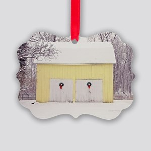 Christmas Barn Picture Ornament