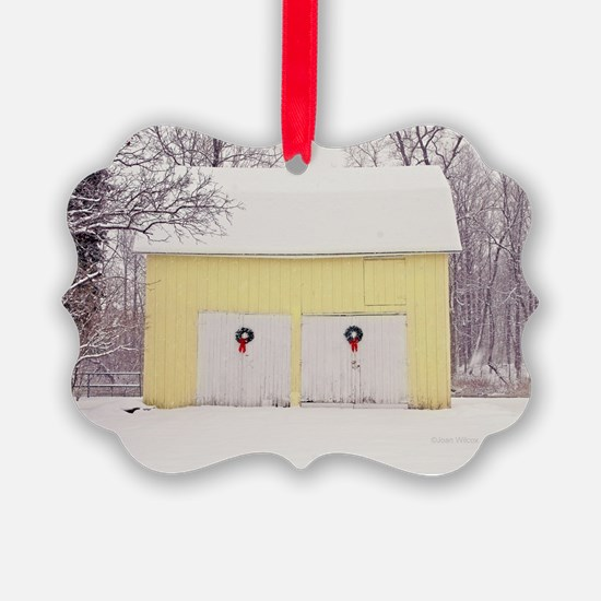 Christmas Barn Ornament