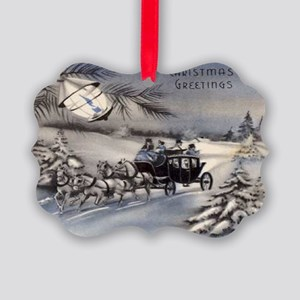 Merry Christmas Cards Picture Ornament