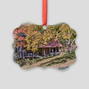 Rustic Ozark Home Picture Ornament