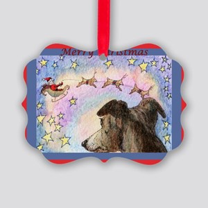 Sleigh flight Picture Ornament