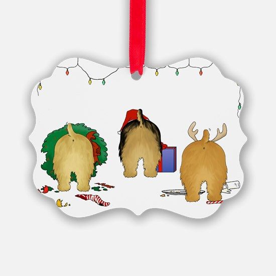 Norfolk Terrier Christmas Picture Ornament0