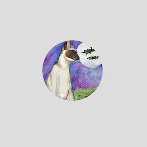 Siamese Halloween Cat Mini Button