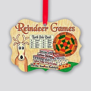 Reindeer Games Christmas Picture Ornament