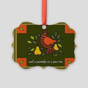 Christmas Partridge Picture Ornament
