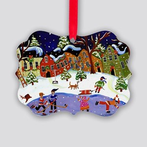 Folk Art Holiday Fun Picture Ornament