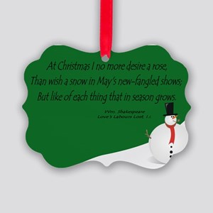 Shakespeare's Christmas Picture Ornament