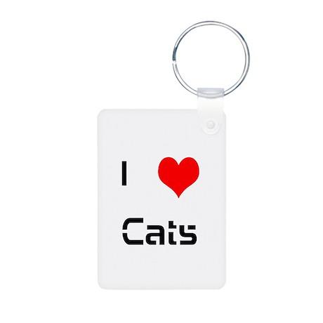 lovecats Aluminum Photo Keychain