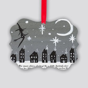 Holiday Saltbox Witch Picture Ornament