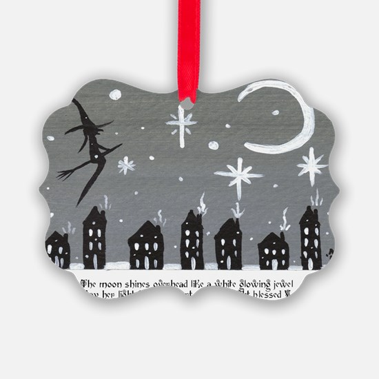 Holiday Saltbox Witch Ornament