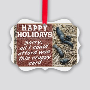 Crappy Holidays Picture Ornament