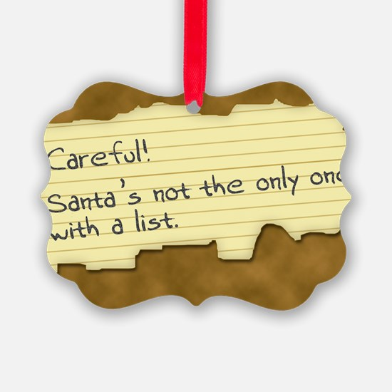 Santa's List Ornament