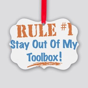 Toolbox Rules Picture Ornament