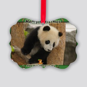 Giant Panda Bear Picture Ornament
