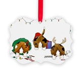 Basset hound Picture Frame Ornaments