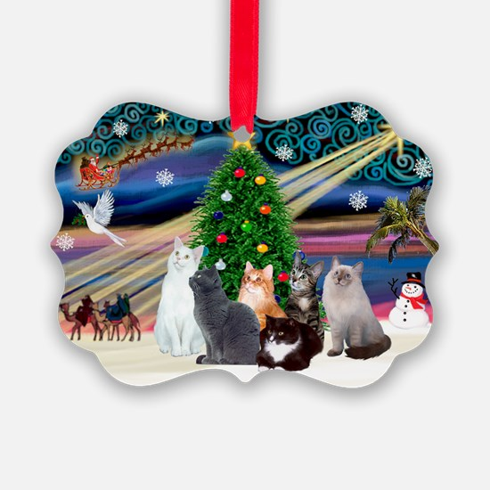 Xmas Magic / Six Cats Ornament