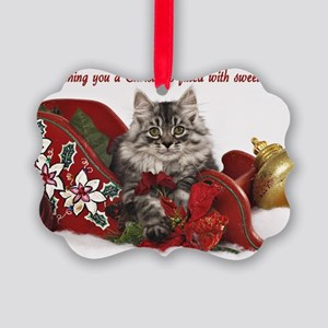 Siberian Kitten Picture Ornament