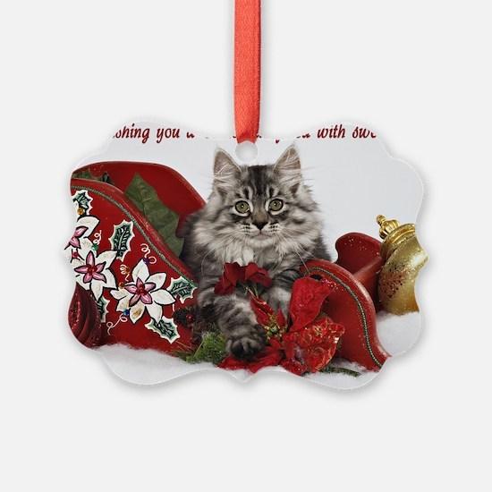 Siberian Kitten Ornament