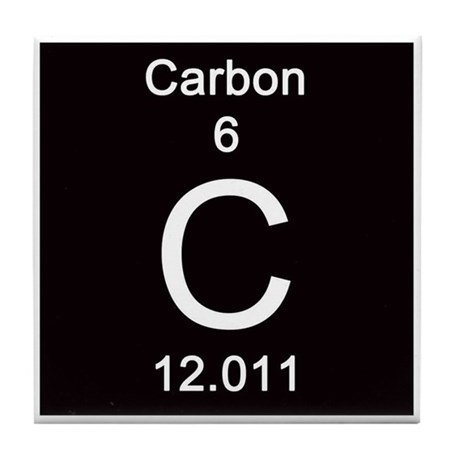 Periodic table carbon tile coaster by sciencelady urtaz Gallery
