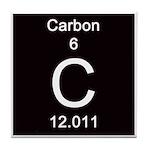 Periodic Table Carbon Tile Coaster