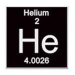 Periodic Table Helium Tile Coaster