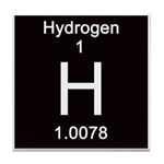 Periodic Table Hydrogen Tile Coaster