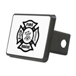 Fire Rescue Rectangular Hitch Cover