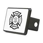 Fire Rescue Rectangular Hitch Cover