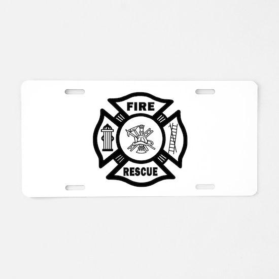 Fire Rescue Aluminum License Plate
