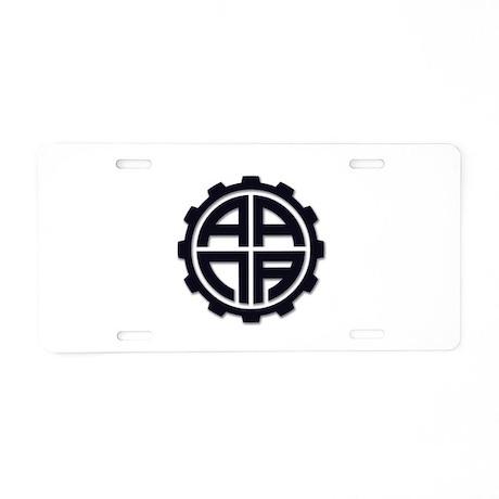 AANAGear - Aluminum License Plate
