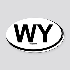 WY - Wyoming Oval Car Magnet