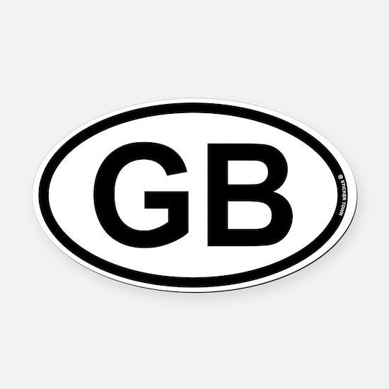 GB - Great Britian Oval Car Magnet