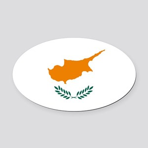 Flag of Cyprus Oval Car Magnet
