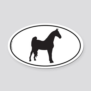 Tennessee Walking Oval Car Magnet