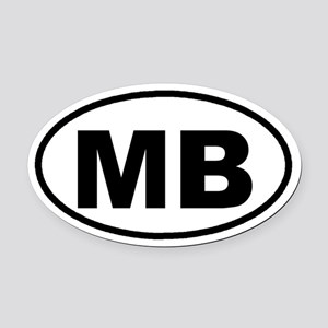 MB Myrtle Beach, SC Euro Oval Car Magnet