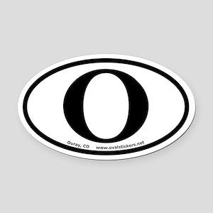 Ouray Colorado O Oval Car Magnet