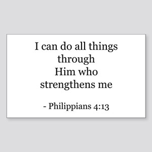 Phillipians 4:13 Rectangle Sticker