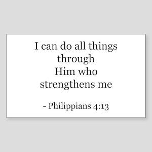 Phillipians 4:13 Rectangle Sticker