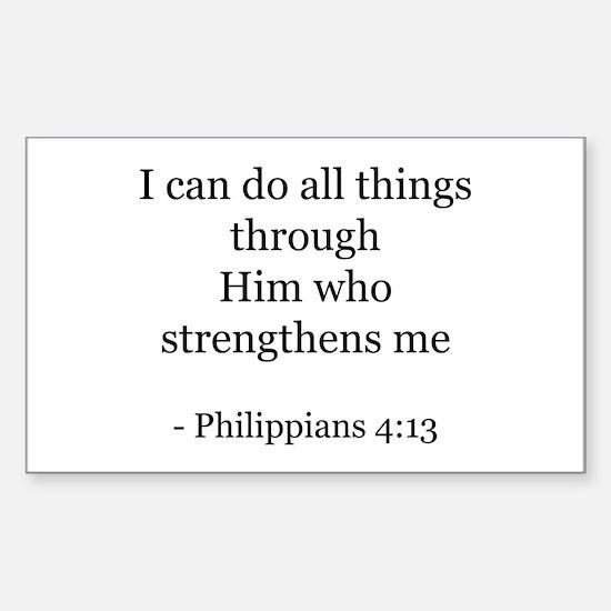 Phillipians 4:13 Rectangle Decal